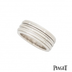 Piaget 18k White Gold Diamond Set Possession Ring G34P0453